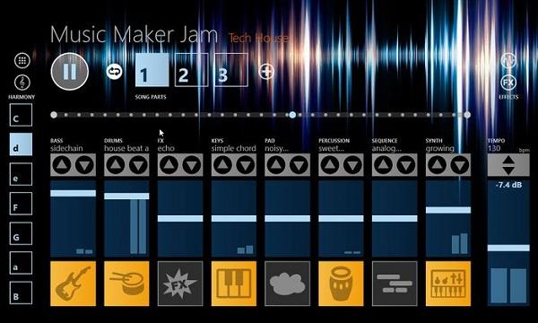 نرم افزار Music Maker Jam