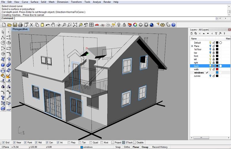 نرم افزار طراحی معماری راینو تری دی