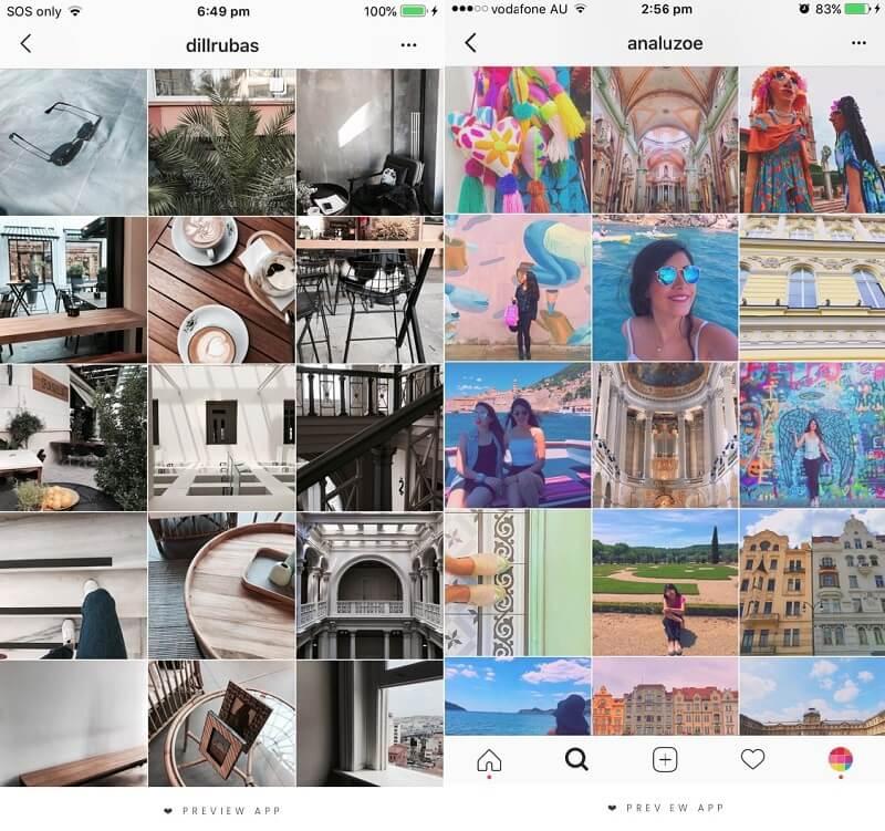 طراحی پست اینستاگرام با فیلتر مشابه