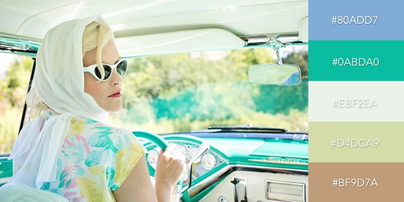 پالت رنگی دهه 1950