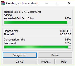 گام پنجم در برنامهwinrar برای ارسال فایلهای حجیم