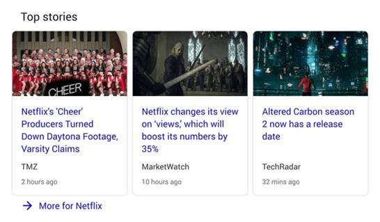 گوگل top stories