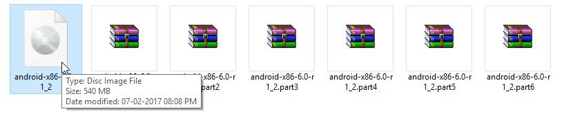 گام ششم در برنامهwinrar برای ارسال فایلهای حجیم