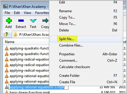 گام اول در برنامه7-zip برای ارسال فایلهای حجیم