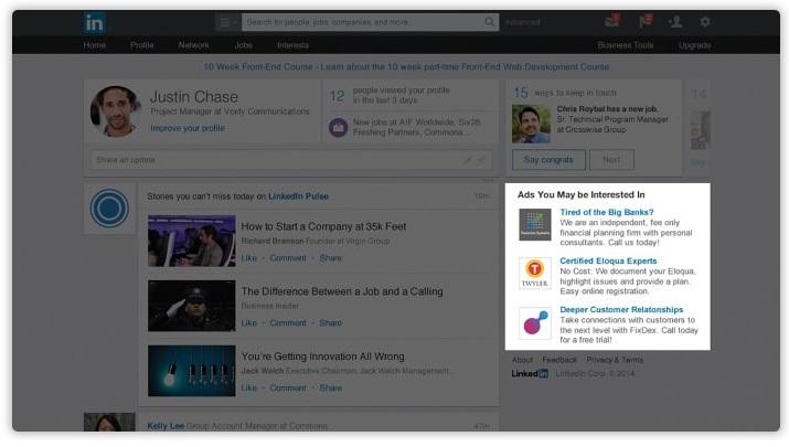 بازاریابی در لینکداین با تبلیغات متنی