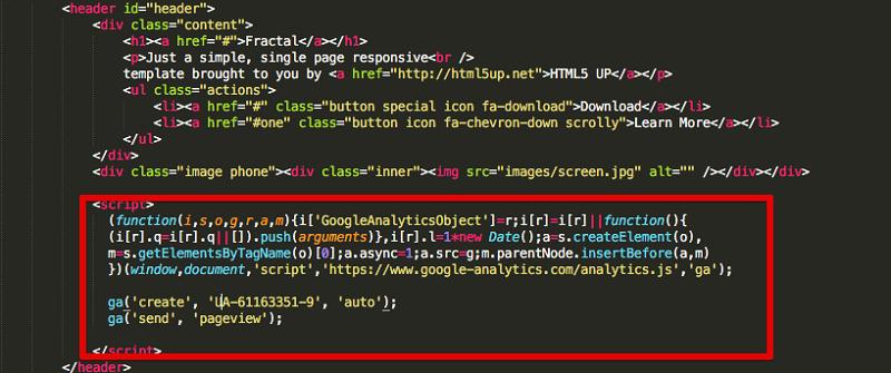 اضافه کردن گوگل آنالایتیکس روی هر وب سایتی
