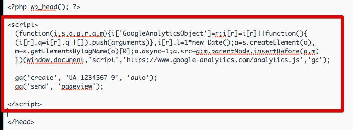 مرحله سوم از کپی کردن کد در گوگل آنالایتیکس