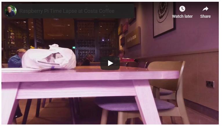 ویدئوی تایم لپس با رزبری پای