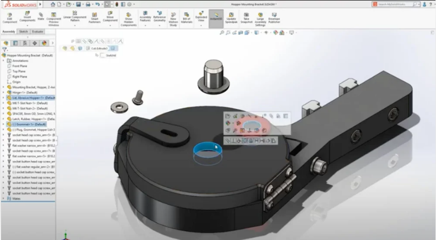 SolidWorks user interface