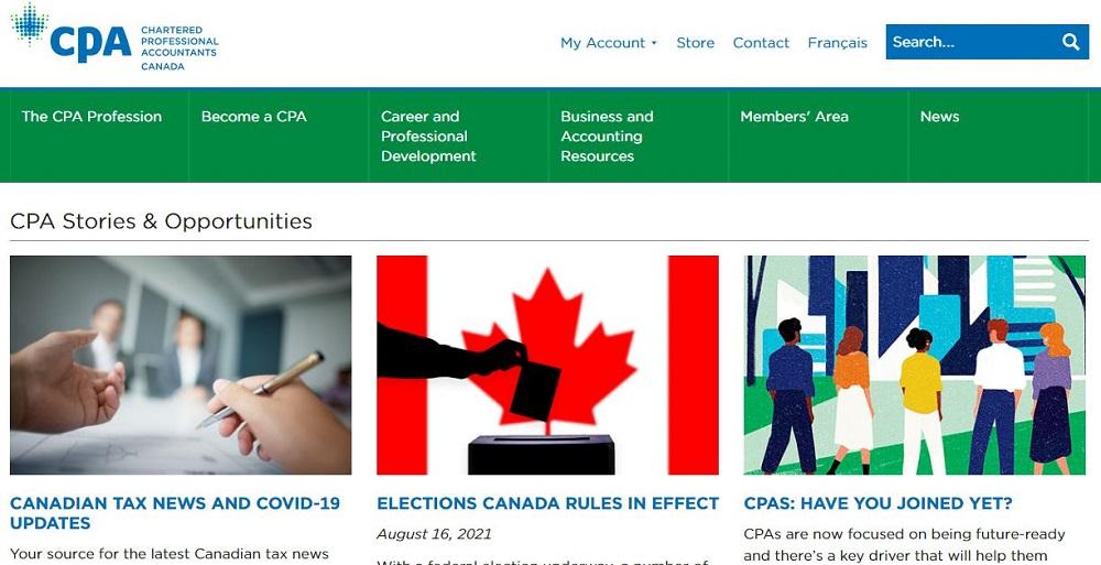 سایتهای حسابداری کانادایی