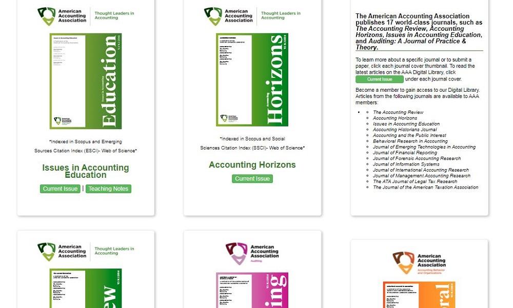 سایتهای حسابداری ژورنالی