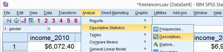 تحلیل داده در spss
